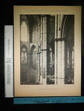 Rare Antique Original VTG German Cathedral Dom Zu Trier Photogravure Art Print