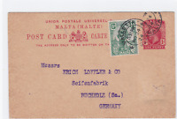 malta 1924  to germany stamps card  ref r14917