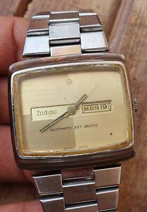 Vintage Zodiac Sst 36000 Hi-Beat Automatic Day Date Men's Watch