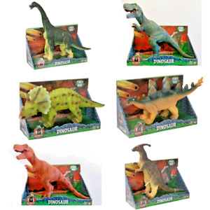 40cm+ Large Soft Rubber Stuffed Dinosaur Toy Play Toy Animal Figures + sound