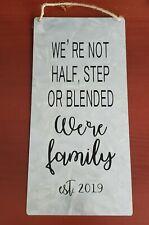 Family galvanized metal farmhouse sign home decor tin rustic custom personalized