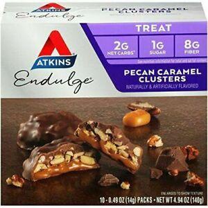 PACK OF 6 Atkins Endulge Pecan Caramel Clusters