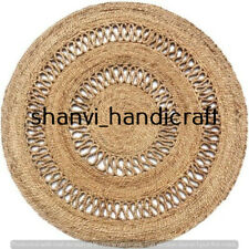 Braided Natural Handmade Hand Woven Area Rug Home Decor Floor Mat Round 8x8 Feet