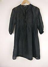 JIGSAW Dress Sz 8 Black Cotton Silk Mix