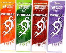 4 Packs of 2~Variety Primal Herbal Wraps~Non Tobacco Non Nicotine~Fresh~Sealed