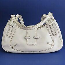 Pre-Owned Tod's White Pebbled Leather Shoulder Purse Handbag - FINAL SALE