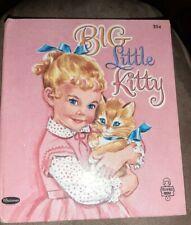 VG 1953 HC First Edition Big Little Kitty Jan Biggers Whitman Tell a Tale Cat