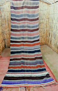 Vintage Moroccan berber wool blanket throw 303 x 116 cm