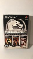 Mortal Kombat Kollection Sony PlayStation 2 PS2 Complete CIB With Outer Box