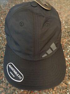 Adidas Men's Cityicon 2 Strapback Hat Black / Gray Nylon Stretch Fit NWT OSFM