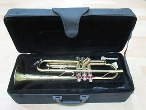Ältere Trompete, ca. 50 cm + Textilkoffer   1M40