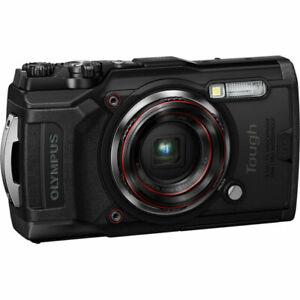 Olympus Tough TG-6 Waterproof Digital Camera - Black, 4K Video
