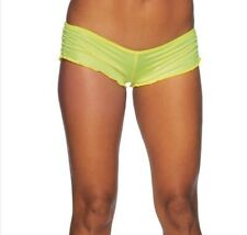 Booty Shorts, Lycra Booty Shorts, Neon Yellow Scrunch Shorts, Short Shorts