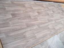 7507 PVC Belag Rest 387x151 Bodenbelag grau bräunl. Holzdekor robust Vliesrücken