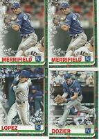 2019 Topps Walmart Holiday Royals Whit Merrifield Hunter Dozier Nicky Lopez