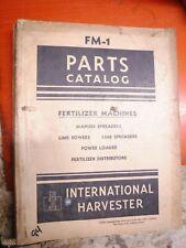 1947 INTERNATIONAL HARVESTER FERTILIZER MACHINES FACTORY PARTS CATALOG FM-1