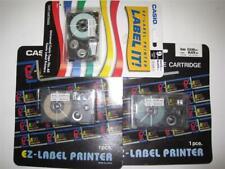 New listing New Casio Ez-Label Printer Tape Cartridges 3 Sealed 9mm Black on White