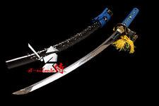new sale clay tempered t-10 carbon steel japanese samurai katana dragonfly tsuba