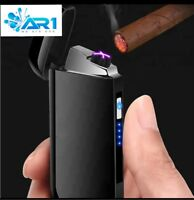 Dual Arc USB Electric Lighter Rechargeable Plasma Windproof No flame small Cigar