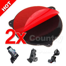 2x Car Cradle Holder GPS Dashboard Suction Mount Adhesive Disc Disk Sticky Pad