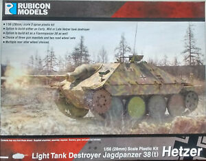 Rubicon 1/56 (28mm)  RB280030 Jagdpanzer 38(t) Hetzer Tank Destroyer Model Kit