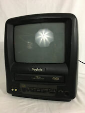 "Symphoic TV VCR Combo Model SSC099 with 9.5"" Screen Black without Remote"