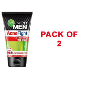 Pack Of 2X Garnier Men Acno Fight Anti-Pimple Facewash - 100gm - FREE SHIP - UK