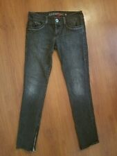 GUESS Jeans Daredevil Skinny size 29 Gray Black Stretch Zipper Ankle