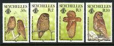 Seychelles 559-562 Mint 1985 Owls Birds Audobon 200 Anniversary Set MNH 9B4 7