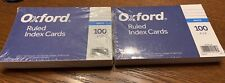 2 Pack Oxford Ruled Index Cards 4x6
