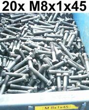 20x SCHRAUBE SCHRAUBEN M8x1x45 FEINGEWINDE 10.9 MASCHINENSCHRAUBEN SECHSKANT