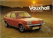 Vauxhall Chevette Viva Cavalier VX-Series January-March 1978 UK Market Brochure