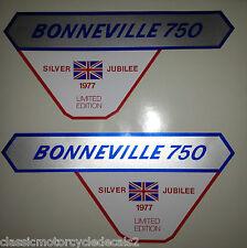 TRIUMPH T140V Bonneville Plata Jubileo 1977 restauración calcomanías de Insignia de panel lateral
