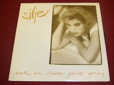 """VINYL 7"""" SINGLE - SILJE - TELL ME WHERE YOU'RE GOING - LIFE 1 7 - PICTURE SLEEVE"""