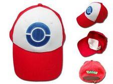 US Pokemon Hat Ash Ketchum Visor Cap Costume Anime Red Baseball Hat