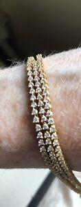 18 Ct Diamonds Yellow Gold  Bracelet 154 Diamonds set