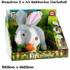 Great Gift idea - Fifi The Bunny Electronic Soft Toy Pet Rabbit - Grey for 3+