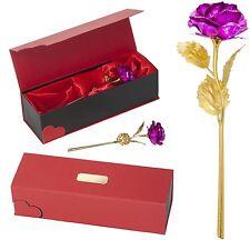 Pink Rosa Goldene Rose + Gravur Valentinstag Geburtstag Hochzeit Ewige Geschenk