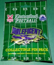 Disney Pins Fantasyland Football Maleficent Mystery Pack 5 Pins