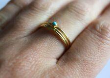 14k gold turquoise rings, gold stacking rings, turquoise ring handmade UK seller
