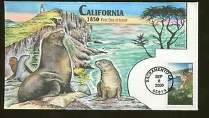 2000 Sacramento California - Statehood 1850 - Collins FDC