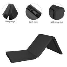 Tri-fold Yoga Mat Fitness Panel Gym Folding Gymnastics Workout Non-Slip Black