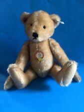 """""""STEIFF """"TEDDY BEAR PETSY 1928"""" EAN 407451 REPLICA-BROWN TIPPED MOHAIR 14"""""""