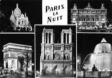 France Paris la Nuit Notre-Dame Opera Arc Triomphe Place Concorde CPSM