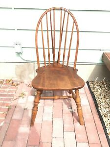 Antique/Vtg J.B.Van Sciver Co Windsor Accent Desk Dining Side Chair, Camden, NJ