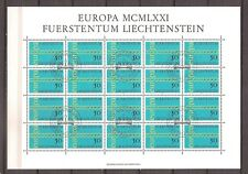 Liechtenstein - 1971 - Mi. 545 (Kleinbogen - CEPT) - Gestempeld - NI133