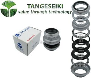 "Tange Seiki Passage 30.0/27.0mm fits 1"" Threaded Bike Headset Satin Silver"