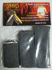 """Sack Ups 6 Pack 3"""" 4"""" 5 Knife Protector Series Variety Pouches Made in Usa Ac803"""