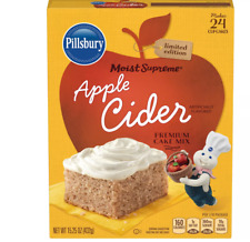 Limited Edition Apple Cider Cake Mix Pillsbury Supreme Holiday Dessert Baking