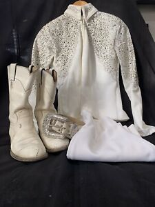 Adult Small White Western Show Outfit
